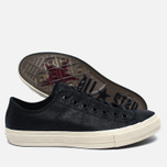 Мужские кеды Converse x John Varvatos Chuck Taylor All Star II Coated Leather Low Black/White фото- 1