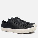 Мужские кеды Converse x John Varvatos Chuck Taylor All Star II Coated Leather Low Black/White фото- 2