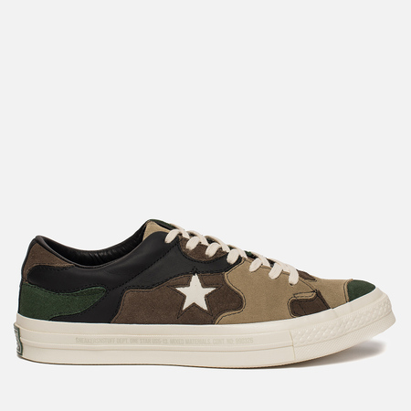 Мужские кеды Converse x Sneakersnstuff One Star Canteen Black Forrest White d5c32ebfc4c26