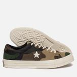Мужские кеды Converse x Sneakersnstuff One Star Canteen/Black Forrest/White фото- 1