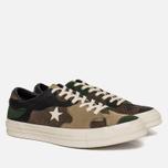 Мужские кеды Converse x Sneakersnstuff One Star Canteen/Black Forrest/White фото- 2