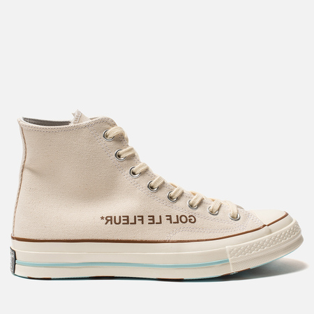 Мужские кеды Converse x Tyler The Creator Golf le Fleur Chuck 70 High Parchment/Egret/Black