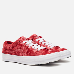 Мужские кеды Converse x Tyler The Creator Golf le Fleur One Star Velvet Low Top Barbados Cherry