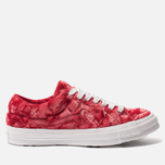 Мужские кеды Converse x Tyler The Creator Golf le Fleur One Star Velvet Low Top Barbados Cherry фото- 0
