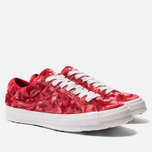 Мужские кеды Converse x Tyler The Creator Golf le Fleur One Star Velvet Low Top Barbados Cherry фото- 2
