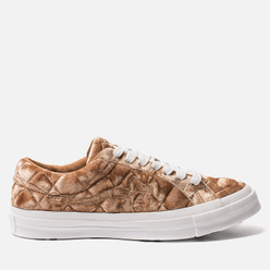 Мужские кеды Converse x Tyler The Creator Golf le Fleur One Star Velvet Low Top Brown Sugar