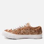 Мужские кеды Converse x Tyler The Creator Golf le Fleur One Star Velvet Low Top Brown Sugar фото- 2