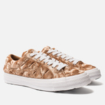 Мужские кеды Converse x Tyler The Creator Golf le Fleur One Star Velvet Low Top Brown Sugar фото- 1