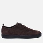 Мужские кеды Fred Perry Shields Suede Creeper Dark Chocolate фото- 0