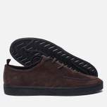 Мужские кеды Fred Perry Shields Suede Creeper Dark Chocolate фото- 1