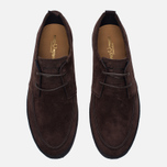 Мужские кеды Fred Perry Shields Suede Creeper Dark Chocolate фото- 4
