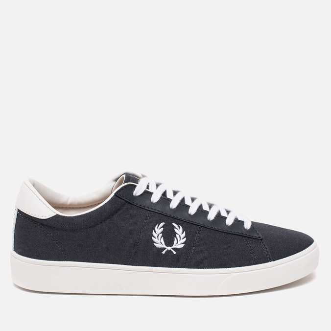 Мужские кеды Fred Perry Spencer Canvas Leather Charcoal
