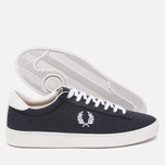 Мужские кеды Fred Perry Spencer Canvas Leather Charcoal фото- 2