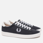 Мужские кеды Fred Perry Spencer Canvas Leather Charcoal фото- 1