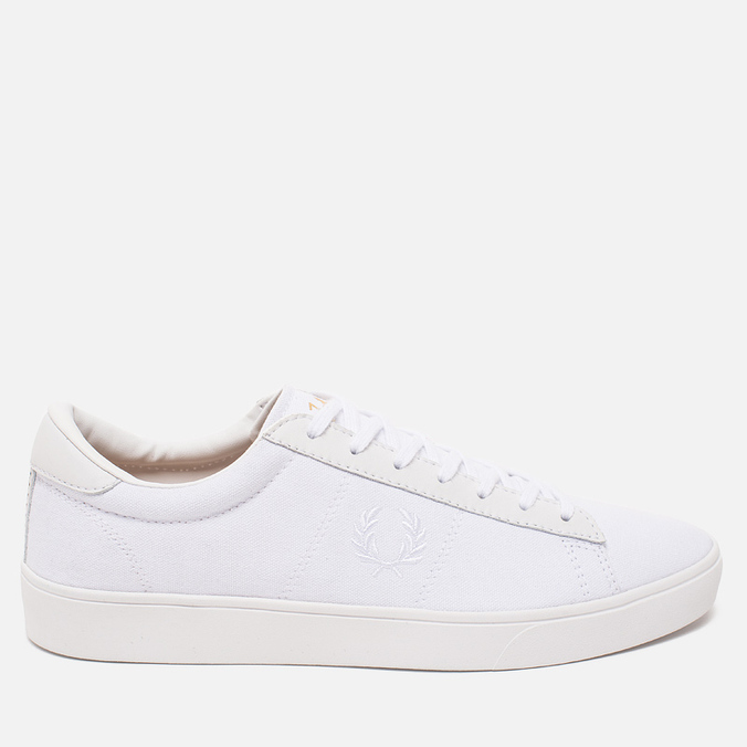 Мужские кеды Fred Perry Spencer Canvas Leather White