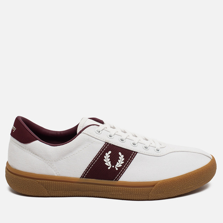 Fred Perry Sports Authentic B1 Tennis Canvas Men's Plimsoles White/Red