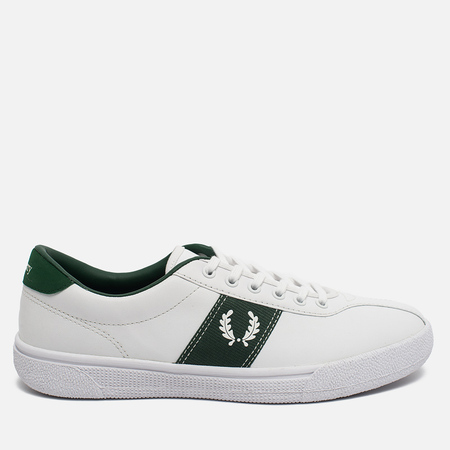 Fred Perry Sports Authentic B1 Tennis Leather Men's Plimsoles White/Green