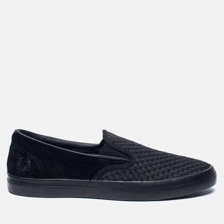 Мужские кеды Fred Perry Underspin Slip-On Checker Suede Black