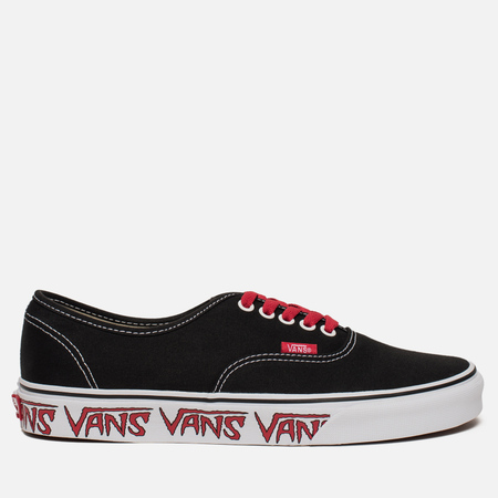 Мужские кеды Vans Authentic Sketch Sidewall Black/Red
