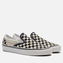 Мужские кеды Vans Classic Slip-On 98 DX Anaheim Factory Checkerboard/Black/White фото- 3