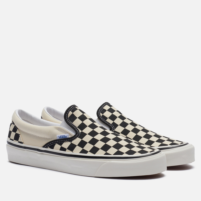 Мужские кеды Vans Classic Slip-On 98 DX Anaheim Factory Checkerboard/Black/White