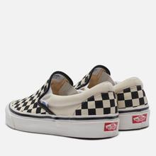 Мужские кеды Vans Classic Slip-On 98 DX Anaheim Factory Checkerboard/Black/White фото- 0