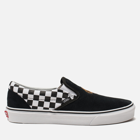 Мужские кеды Vans Classic Slip-On Tiger Check Black/True White