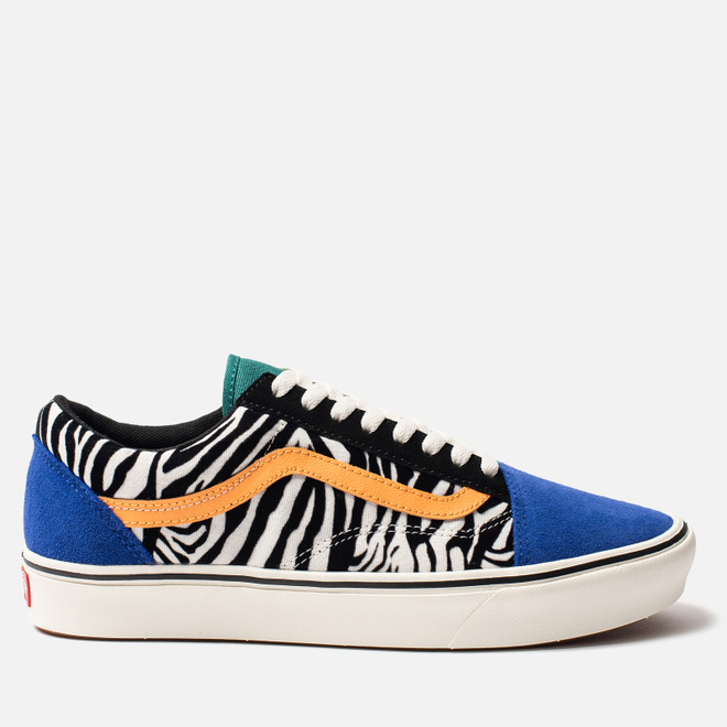 Мужские кеды Vans Comfycush Old Skool Classic Zebra Tidepool/Surf The Web