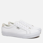 Мужские кеды Vans Court Leather True White фото- 1