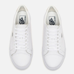 Мужские кеды Vans Court Leather True White фото- 4