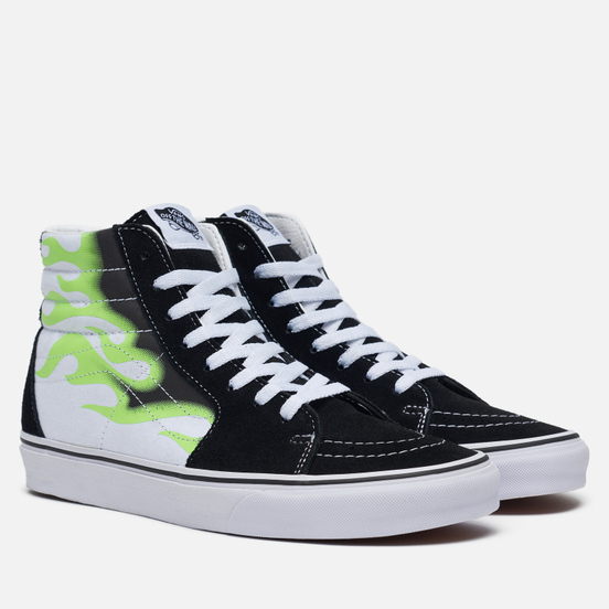 Мужские кеды Vans Flame Sk8-Hi Black/True White
