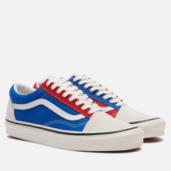 Мужские кеды Vans Old Skool 36 DX Anaheim Factory White/Blue/Red