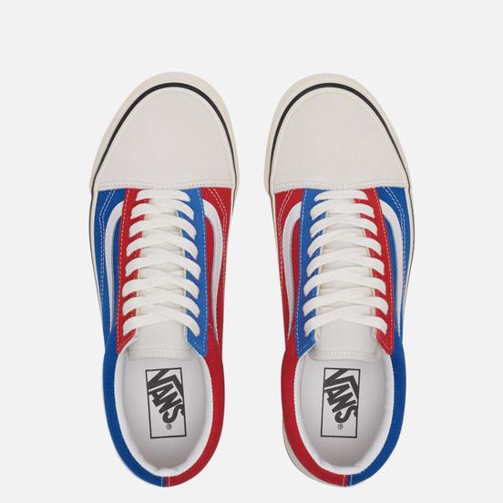 Мужские кеды Vans Old Skool 36 DX Anaheim Factory White/Blue/Red