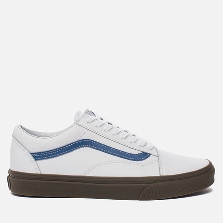 Мужские кеды Vans Old Skool Bleacher True White/Delft/Gum