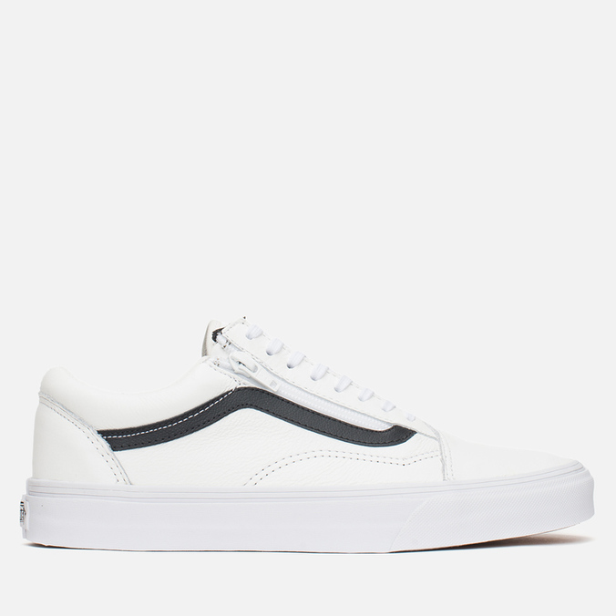 Мужские кеды Vans Old Skool Zip Premium Leather True White
