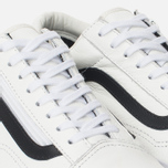 Мужские кеды Vans Old Skool Zip Premium Leather True White фото- 5