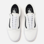 Мужские кеды Vans Old Skool Zip Premium Leather True White фото- 4