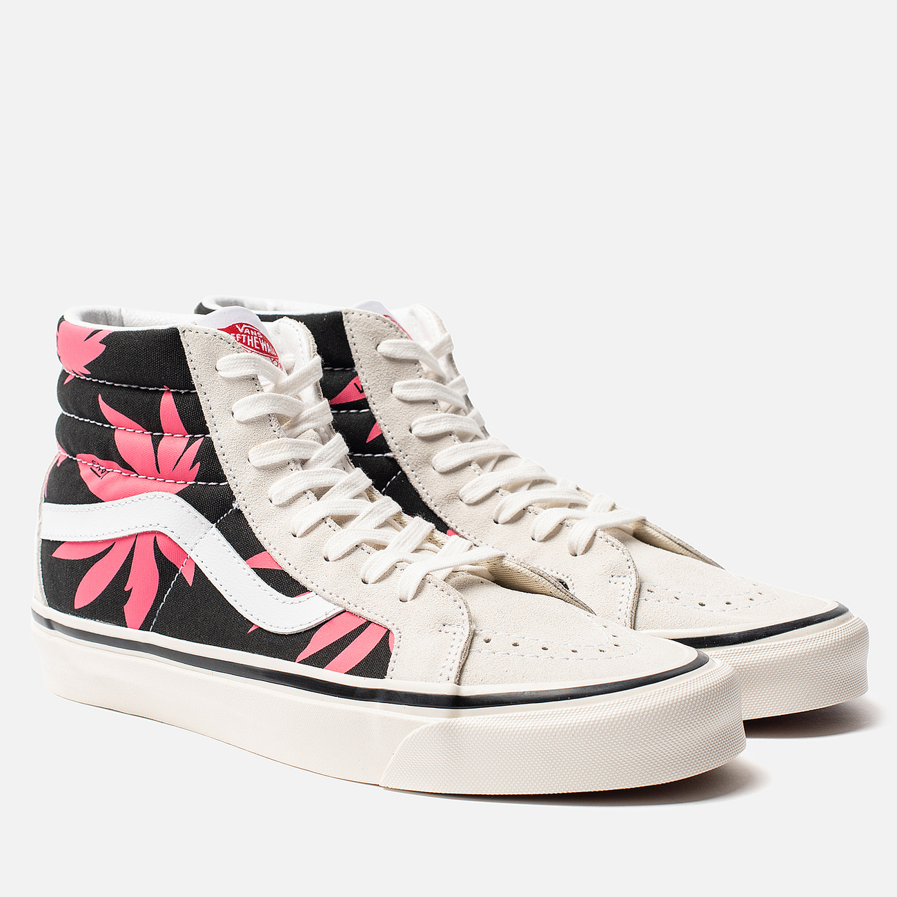 Мужские кеды Vans SK8-Hi 38 DX Anaheim Factory OG White/OG Black/Summer Leaf