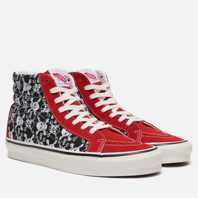 Мужские кеды Vans SK8-Hi 38 DX Anaheim Factory Skulls/Red/Black