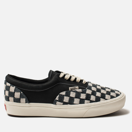 Мужские кеды Vans Vault Comfycush Era Lux Hairy Suede/Nubuck Black/Oatmeal/Checkerboard