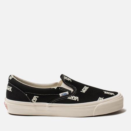 Мужские кеды Vans Vault OG Classic Slip-On Canvas Black/Marshmallow