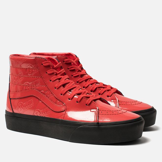 Мужские кеды Vans x David Bowie SK8-Hi Platform 2 Ziggy Stardust/Red/Black
