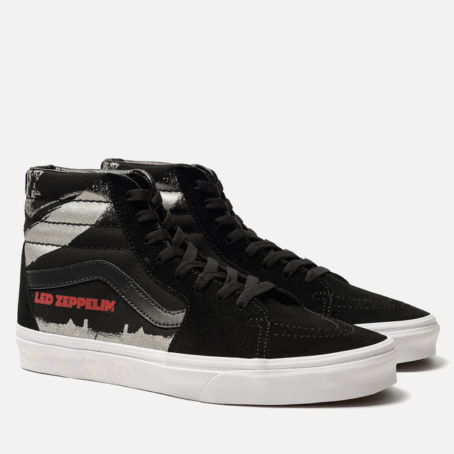 Мужские кеды Vans x Led Zeppelin SK8-Hi Black/True White