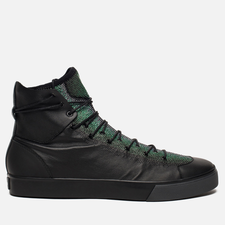 Мужские кеды Y-3 Sen High Black/Supplier Colour/Evergreen