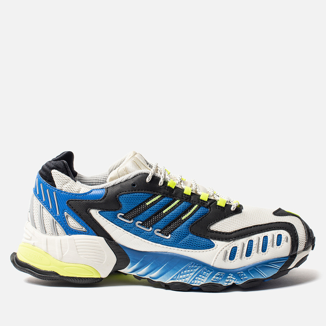 Мужские кроссовки adidas Consortium Torsion TRDC Off White/Core Black/Solar Yellow