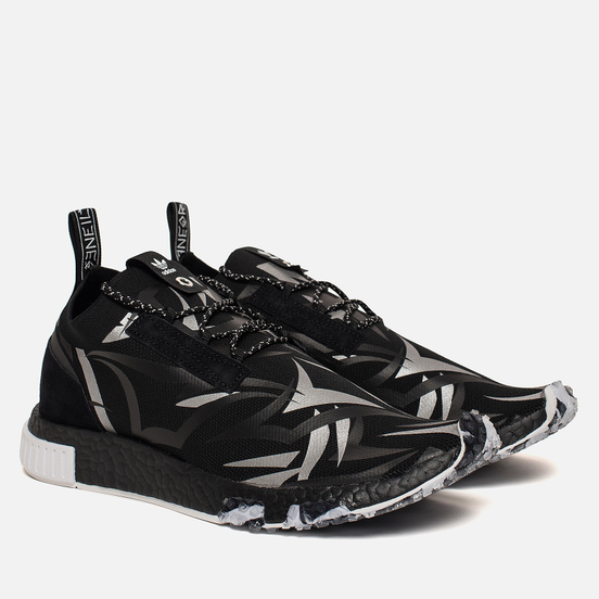Кроссовки adidas Consortium x Juice NMD Racer Core Black/White/Core Black