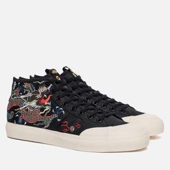Мужские кроссовки adidas Consortium x Juice x Footpatrol Matchcourt Mid Black/White