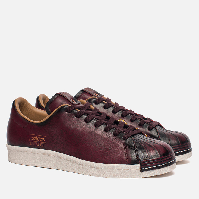 Мужские кроссовки adidas Consortium x Limited Edt Superstar Vault Leather Burgundy/Vintage Off White