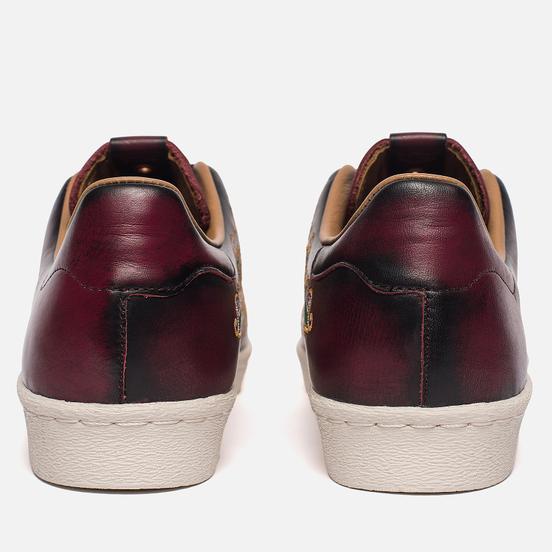 Мужские кроссовки adidas Consortium x Limited Edt Superstar Vault Leather Burgundy/Vintage Off White