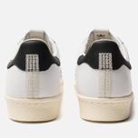 Мужские кроссовки adidas Consortium x Slam Jam Superstar 80s White/White/White фото- 3